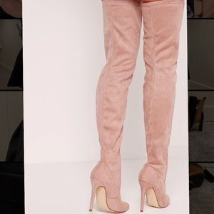 Missguided Shoes - Missguided Faux Suede Over The Knee